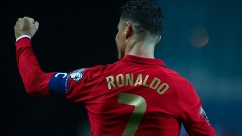 Cristiano Ronaldo festeja uno de sus goles con Portugal.