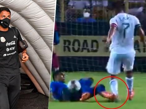 Video: Así fue la brutal entrada que sufrió Luis Romo con el Tri