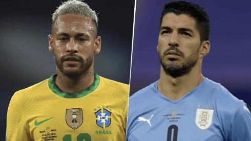 Brasil vs. Uruguay por las Eliminatorias Conmebol. (Getty Images)