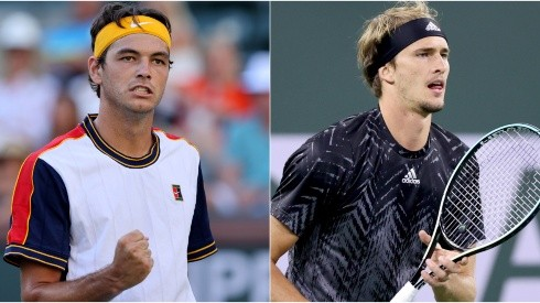 Taylor Fritz of the United States (left) and Alexander Zverev of Germany (right)