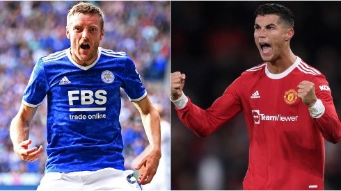 Jamie Vardy of Leicester City (left) and Cristiano Ronaldo of Manchester United (right)