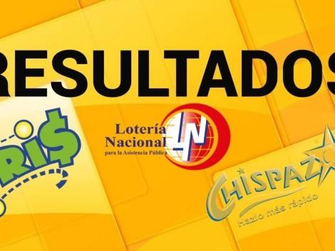 ◉ Lotería Nacional Tris y Chispazo de HOY: resultados y números ganadores viernes 15 de octubre   Sorteo Clásico 27662 y 8662