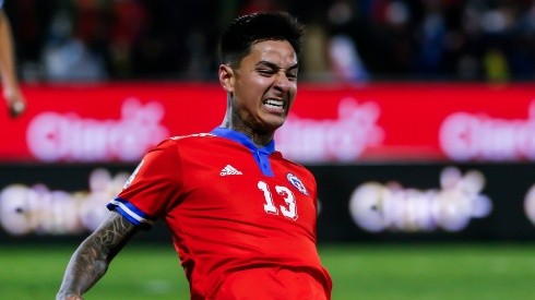 Erick Pulgar of Chile celebrates.