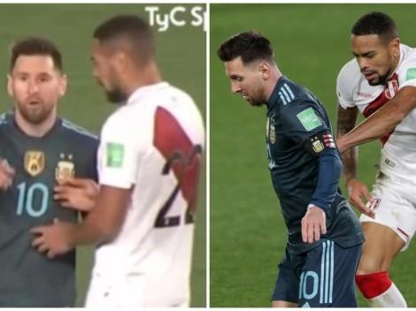 Callens intentó cambiar camiseta con Messi, pero el argentino tenía un acuerdo con otro jugador