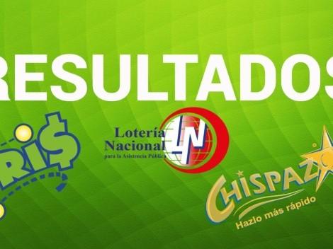 Resultados Lotería Nacional Tris y Chispazo: números ganadores sábado 16 de octubre   Sorteo Clásico 27667 y 8664