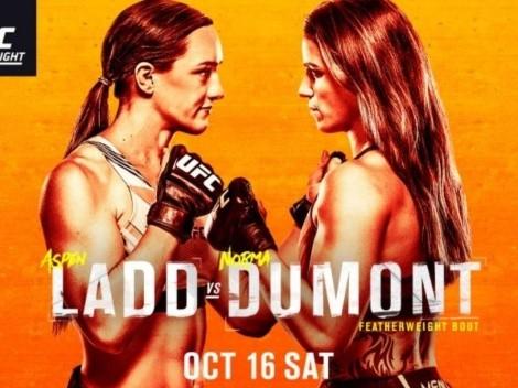 Mira EN VIVO Aspen Ladd vs. Norma Dumont | Día, hora y TV para mirar EN DIRECTO la pelea por el UFC Fight Night | UFC Vegas 40
