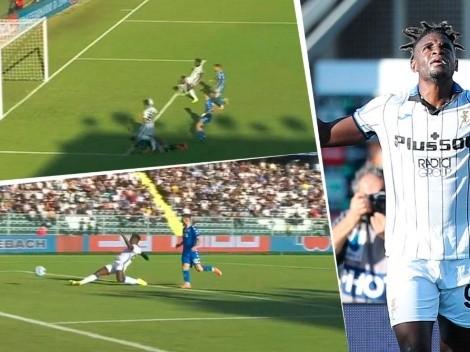 Video: Duván Zapata volvió con Atalanta y marcó su gol 100 en Italia ante Empoli