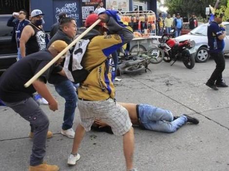 Imágenes sensibles: seguidor del América, brutalmente golpeado en San Luis