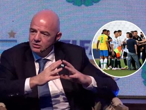 """Infantino, contundente sobre el Argentina-Brasil: """"No queremos más imágenes como ésta"""""""
