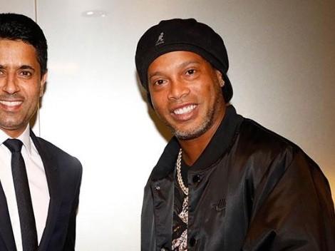 Ronaldinho y su día con PSG: le dio más magia a Messi y tuvo reconocimiento