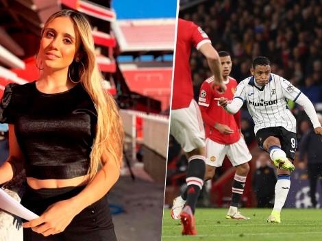 """Morena Beltrán sigue encantada con Luis Muriel: """"¡Qué jugador!"""""""