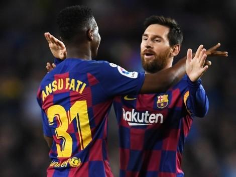 "Ansu Fati sobre Messi: ""Yo seguiré mi camino"""
