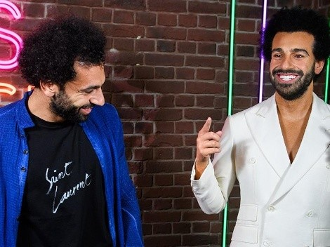 Video | La reacción de Mohamed Salah al conocer su idéntica estatua de cera