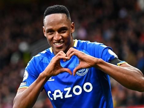 Una vez más, Yerry Mina vuelve a prender las alarmas en el Everton y Colombia