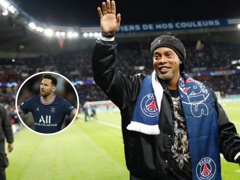 """""""Fue una sorpresa"""": Ronaldinho habló de la salida de Messi del Barcelona"""