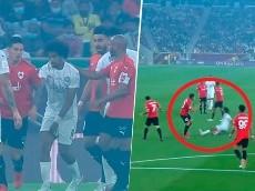 Rifirrafe de James Rodríguez con un rival en la final de la Copa Emir de Catar