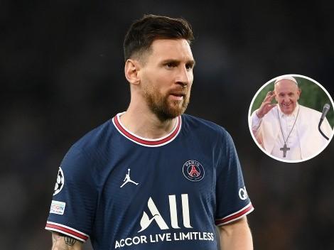 """El Papa Francisco y un mensaje especial para Lionel Messi: """"Siempre con tu sencillez"""""""