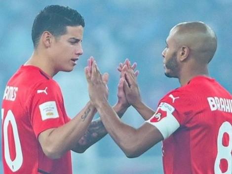 No pudo ser para James Rodríguez: Al Rayyan cayó por penales en la Copa de Catar