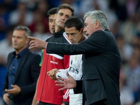 Carlo Ancelotti, DT del Real Madrid, que ha apoyado a futbolistas mexicanos