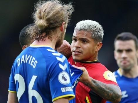 'El Cucho' fue titular en la humillada del Watford 2-5 al Everton de Rafa Benítez