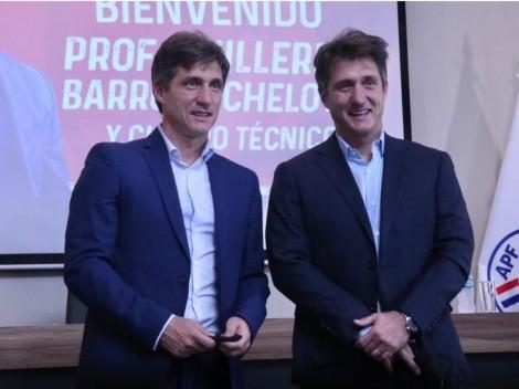 Así fue presentado Guillermo Barros Schelotto en Paraguay