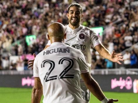 Los hermanos Higuaín son figura en la goleada de Inter Miami ante FC Cincinnati