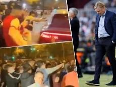 Video | Los hinchas de Barcelona chocaron con Koeman y fueron violentos al exigir su renuncia