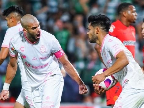 Sobre el final, Santos le empató a Toluca y le arruinó su objetivo