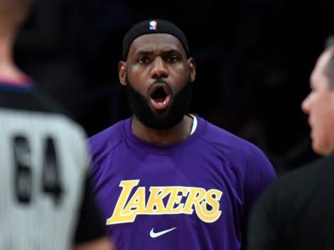 LeBron James estuvo a punto de lesionarse y asustó a todos los Lakers