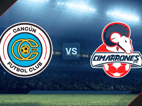 HOY | VER EN VIVO Cancún FC vs. Cimarrones de Sonora por la Liga de Expansión MX: Hora y canal de TV