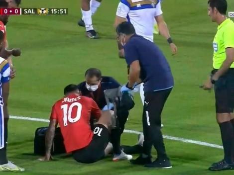 Al Sailiya atiende a punta de faltas a James Rodríguez en Catar