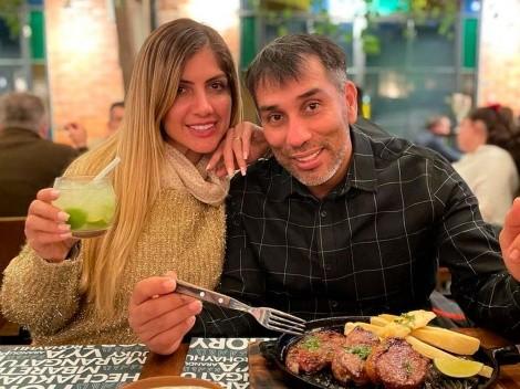 """Ya es viral: la desopilante foto que posteó """"Pipino"""" Cuevas con su esposa"""