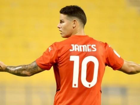 Lo que dijo James en redes sociales tras anotar su primer gol en Catar