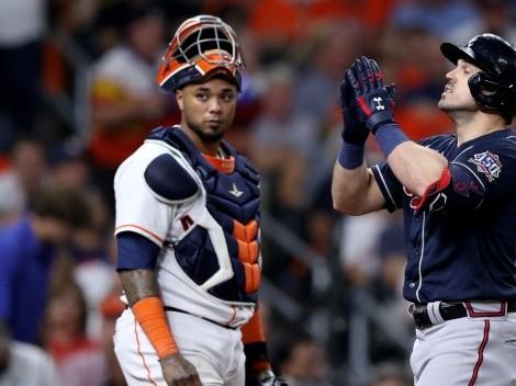 Atlanta Braves pegó primero ante los Houston Astros en la Serie Mundial