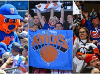 Syracuse Mets, New York Knicks and NY Islanders are three of the most popular teams in the state of New York.
