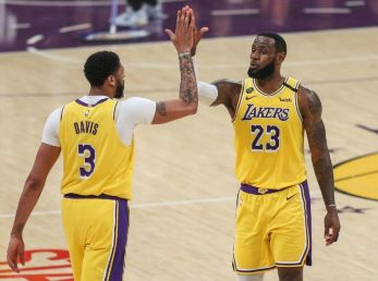 LeBron James and Anthony Davis of the Los Angeles Lakers - Getty