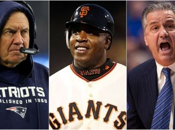 Bill Belichick, Barry Bonds & John Calipari - Getty