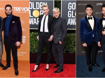Michael Turchin and Lance Bass, Portia de Rossi and Ellen DeGeneres & Jwan Yosef and Ricky Martin - Getty