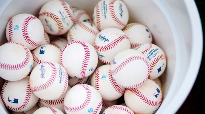 MLB official baseballs. (Getty)