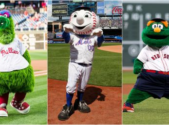 Phillie Phanatic, Mr. Met & Wally The Green Monster. (Getty)