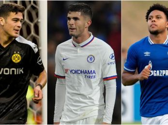 Giovanni Reyna, Christian Pulisic, and Weston McKennie all hit milestones in their past Euro club season (Getty).