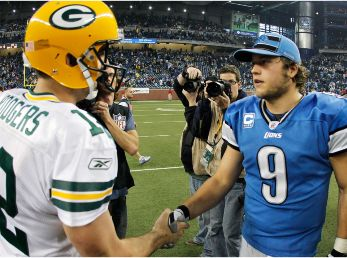 Aaron Rodgers and Matthew Stafford will lead the offenses. (Getty)