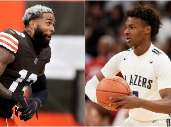 Odell Beckham Jr had some hilarious comments about Bronny's alleged punishment. (Getty)