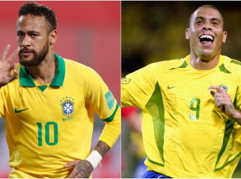 Neymar and Ronaldo of Brazil. (Getty)