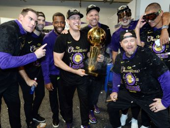 The Lakers coaching staff did a terrific job taking this team to the promised land. (Getty)