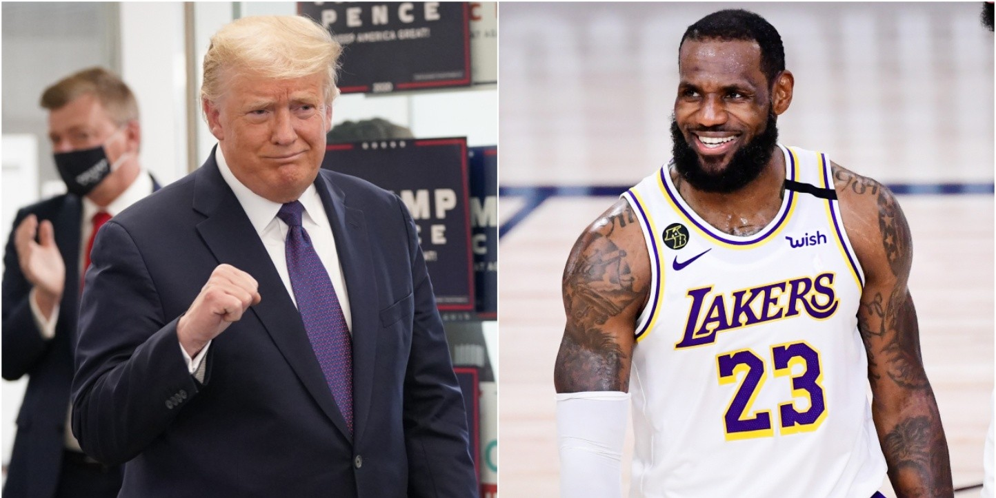 Donald Trump and LeBron James (Getty)