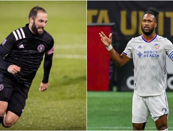 Gonzalo Higuaín (left) will try to take his team to the MLS Cup 2020. (Getty)
