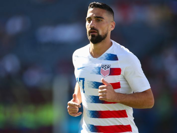 Sebastian Lletget of the United States during a game (Getty).