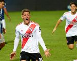 Federico Girotti of River Plate celebrates after scoring against Godoy Cruz (Getty).