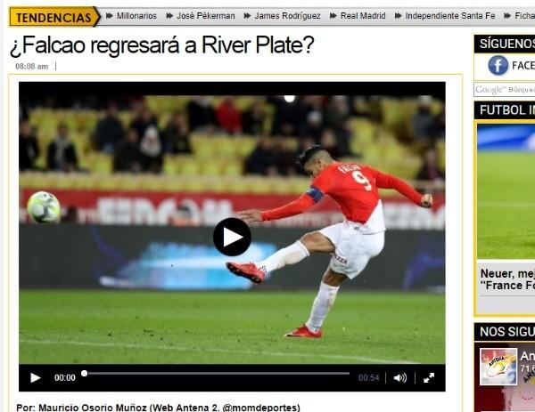 En los micrófonos del medio colombiano se empezó a generar el rumor que vincula al'Tigre con River Plate luego de Rusia 2018